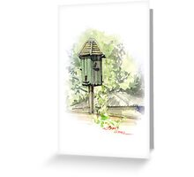 A Bird House  Greeting Card