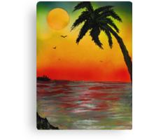 Tropical Sunset Canvas Print