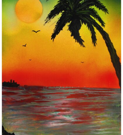 Tropical Sunset Sticker