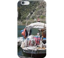 A Turkish Fishing Boat on the Dalyan River iPhone Case/Skin