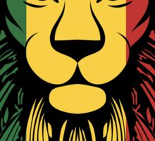 Rasta Lion Head Sticker