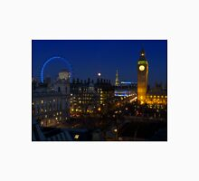 London eye and Big Ben by night, London, England Unisex T-Shirt