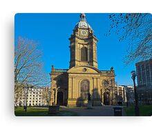 St Philips, Birmingham Cathedral, England, UK Canvas Print