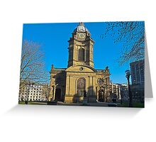 St Philips, Birmingham Cathedral, England, UK Greeting Card