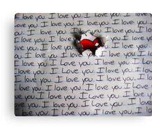 I Love You.. (1) - Valentine Canvas Print