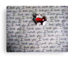 I Love You.. (1) - Valentine Canvas Print