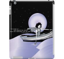1920s Gatsby Flapper Girl Sea Boat Quote iPad Case/Skin