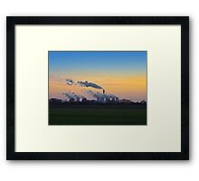 Drax power station at dusk Framed Print