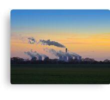 Drax power station at dusk Canvas Print