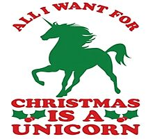 All I Want Is A Unicorn Photographic Print