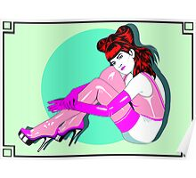 Pink Rubber Stockings Poster