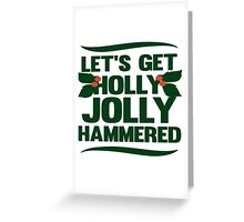 Holly Jolly Hammered Greeting Card