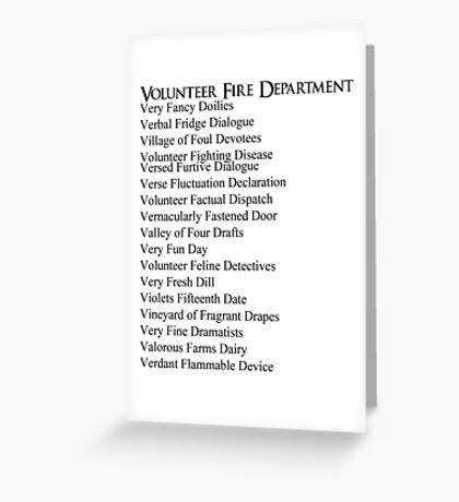 Volunteer Fire Department Greeting Card