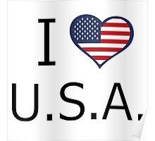 I love U.S.A. Poster