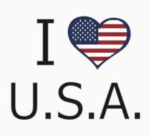 I love U.S.A. Kids Tee