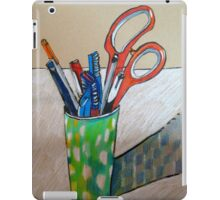 still life with scissors iPad Case/Skin