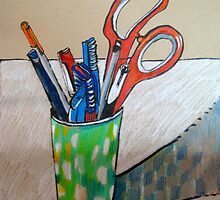 still life with scissors by Evelyn Bach