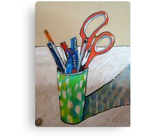 still life with scissors Canvas Print
