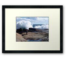 Bursting Waves Framed Print