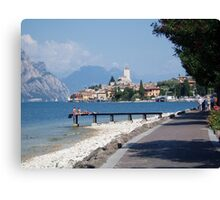 Malcesnie, Lake Garda Canvas Print