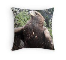 The Golden Eagle Throw Pillow