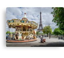 Parisian Carousel Canvas Print