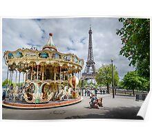 Parisian Carousel Poster