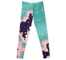 Pink and Mint Rift Galaxy Leggings