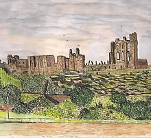 Tynemouth priory and castle by GEORGE SANDERSON