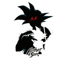 Father and son Dragon Ball Z by artemys