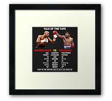 Tale Of The Tape Framed Print