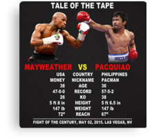 Tale Of The Tape Canvas Print