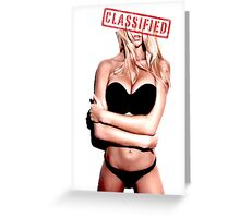 Classified - Sunset girl Greeting Card