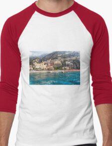 Positano Beach From the Sea Men's Baseball ¾ T-Shirt