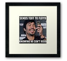 Text Floyd Framed Print