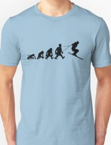 ski jump skiing darwin evolution T-Shirt