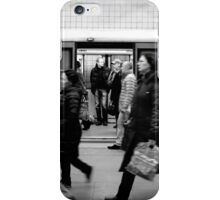 Moscow Metro - Commuters - B&W iPhone Case/Skin