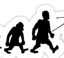 ski jump skiing darwin evolution Sticker
