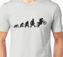 motorcycle motocross trial enduro darwin evolution moto Unisex T-Shirt