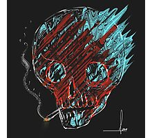 Smoking skull Photographic Print