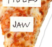 tigers jaw pizza logo Sticker