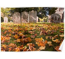 Autumn leaves at St. Nicholas at Wade Poster