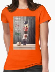 Tea is Hope Womens Fitted T-Shirt