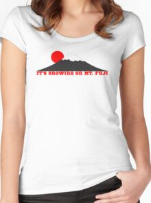 It's Snowing On Mt. Fuji Women's Fitted Scoop T-Shirt