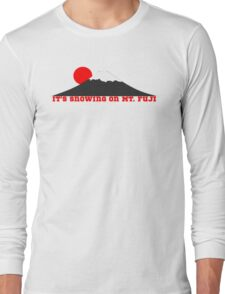 It's Snowing On Mt. Fuji Long Sleeve T-Shirt
