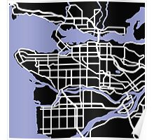 Map of Vancouver Poster