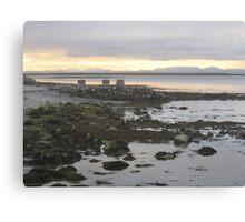 Golden Grey: The Sun Sets On Ireland: Co. Clare Canvas Print