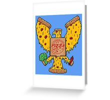 United States Of Pizza Greeting Card