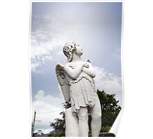 angel statue in a kilkenny graveyard Poster
