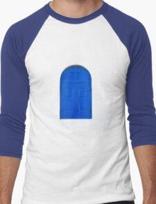 blue window Men's Baseball ¾ T-Shirt